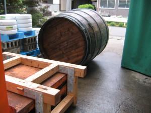 木の桶の上げ方