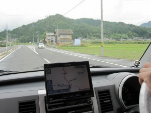 車で行きました。